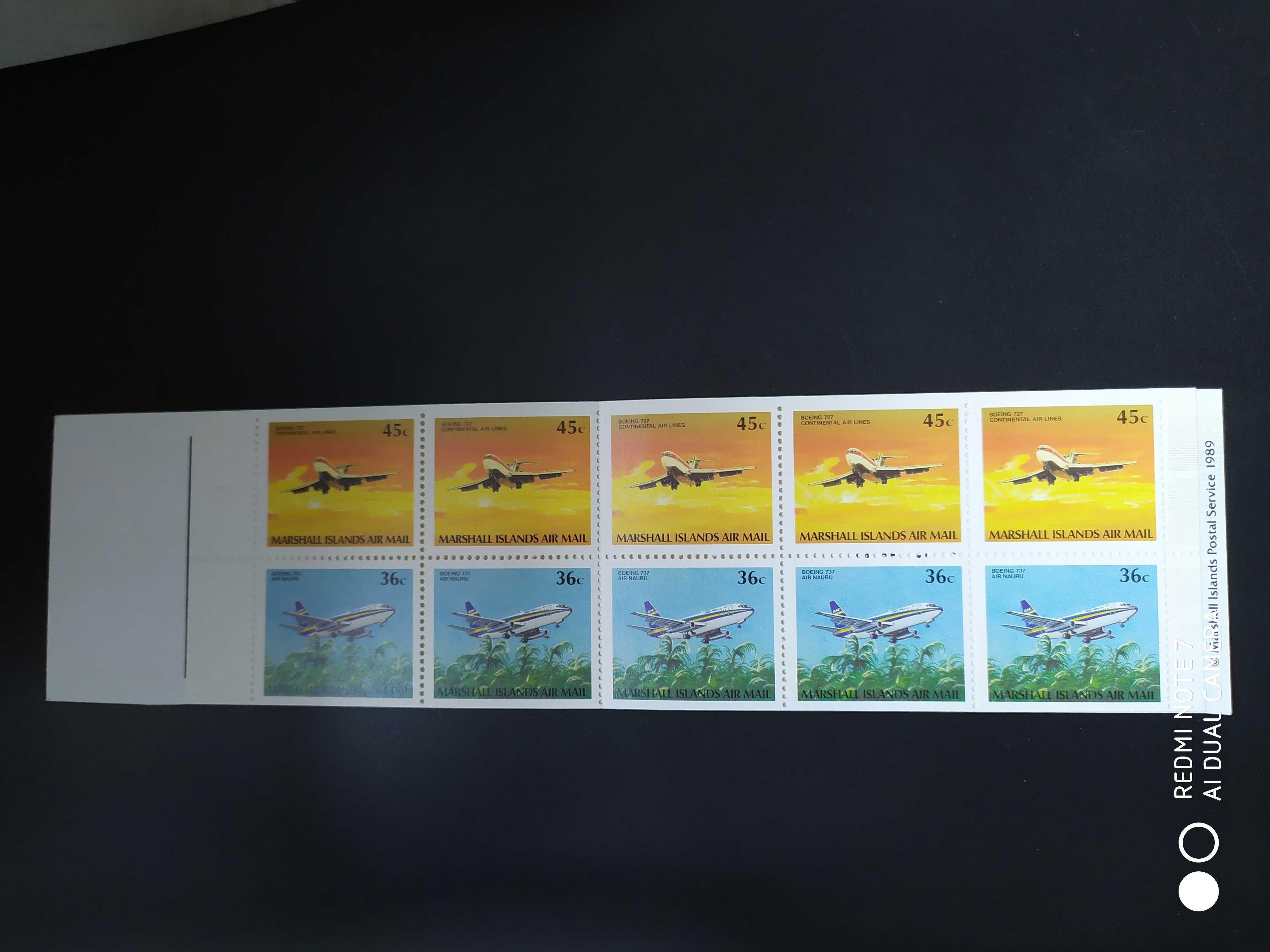 帕劳1989年飞机邮票小本票1新