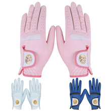 Golf gloves women's hands sun proof and breathable imported super fiber cloth washable golf gloves