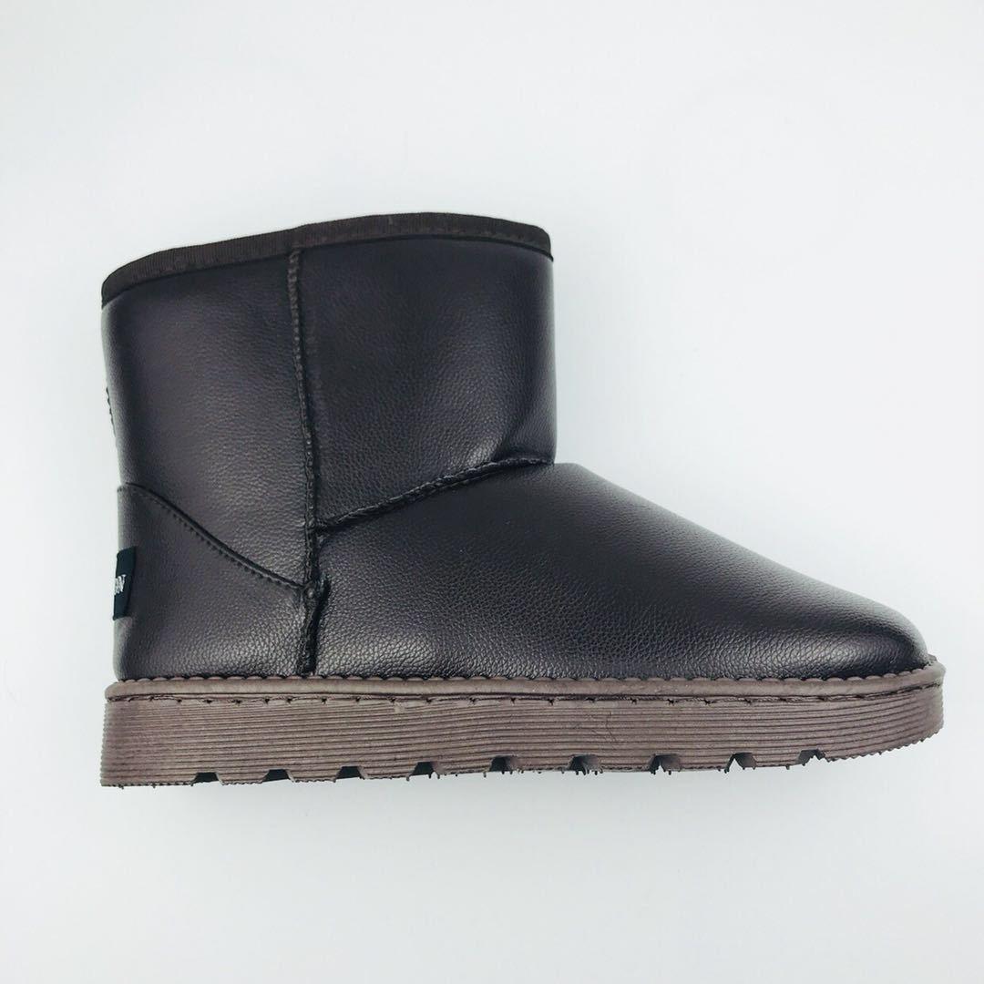 雪地靴女皮面冬季防水防滑防大雪天耐脏棉鞋短筒经典女士雪地靴子
