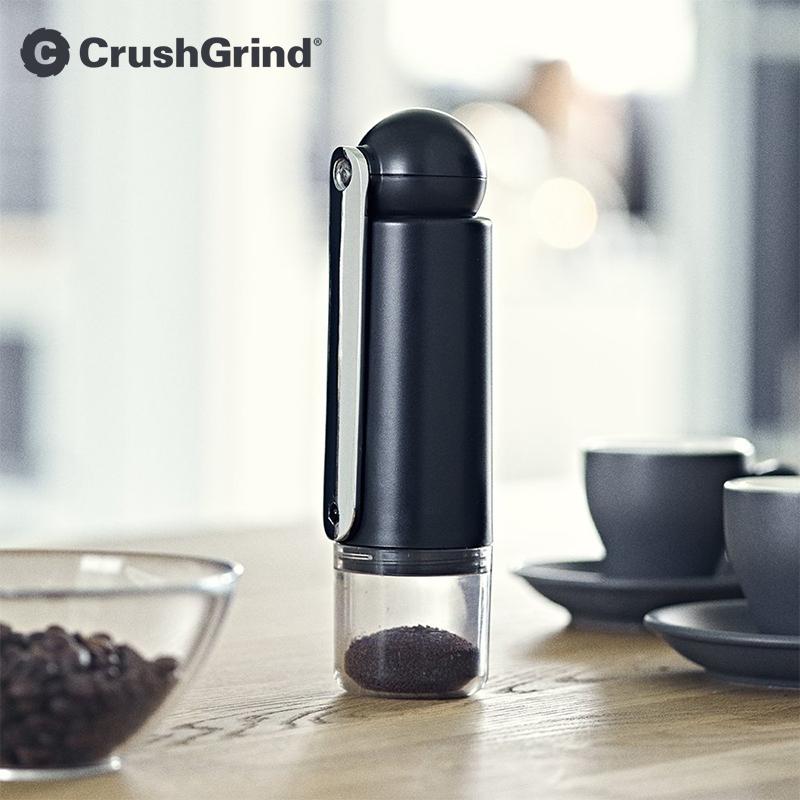 10-22新券丹麦CrushGrind 便携手摇磨豆机 咖啡豆研磨机 陶瓷磨芯-可调粗细