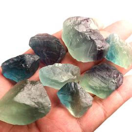 灵昌水晶碎石天然萤石原石摆件水晶原石毛料标本石能量水晶疗愈石图片