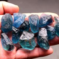 Линчан кристалл гравий натуральный голубой Флюорит камень оригинальный камень руда кристалл энергия кристалл руда стандартный Это