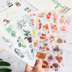 小清新文艺和纸贴纸植物花朵食物可爱复古手账本素材日记装饰贴画