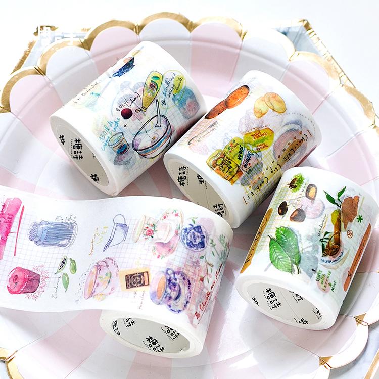 糖诗和纸胶带 美食每刻日常手账日记本diy甜甜食物饮料素材画整卷