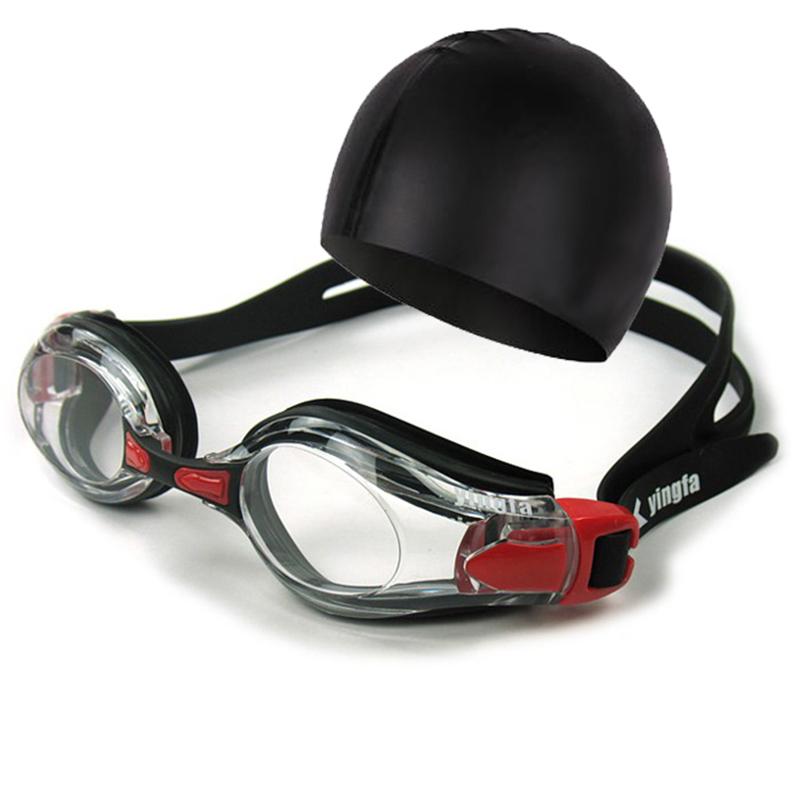 (用13元券)送耳塞胶帽英发男女防水游泳眼镜