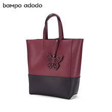 Leather handbag women's handbag in autumn and winter