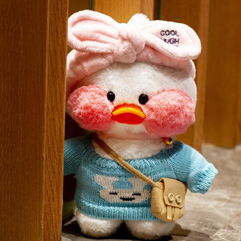 网红玻尿酸鸭毛绒玩具玩偶公仔小黄鸭嘟嘟鸭生日礼物女娃娃ins