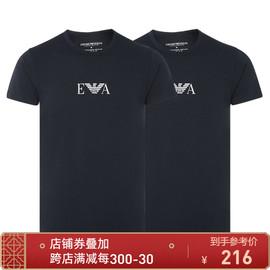EMPORIO ARMANI/阿玛尼多色EA字母设计 多色男士圆领T恤(2件装)