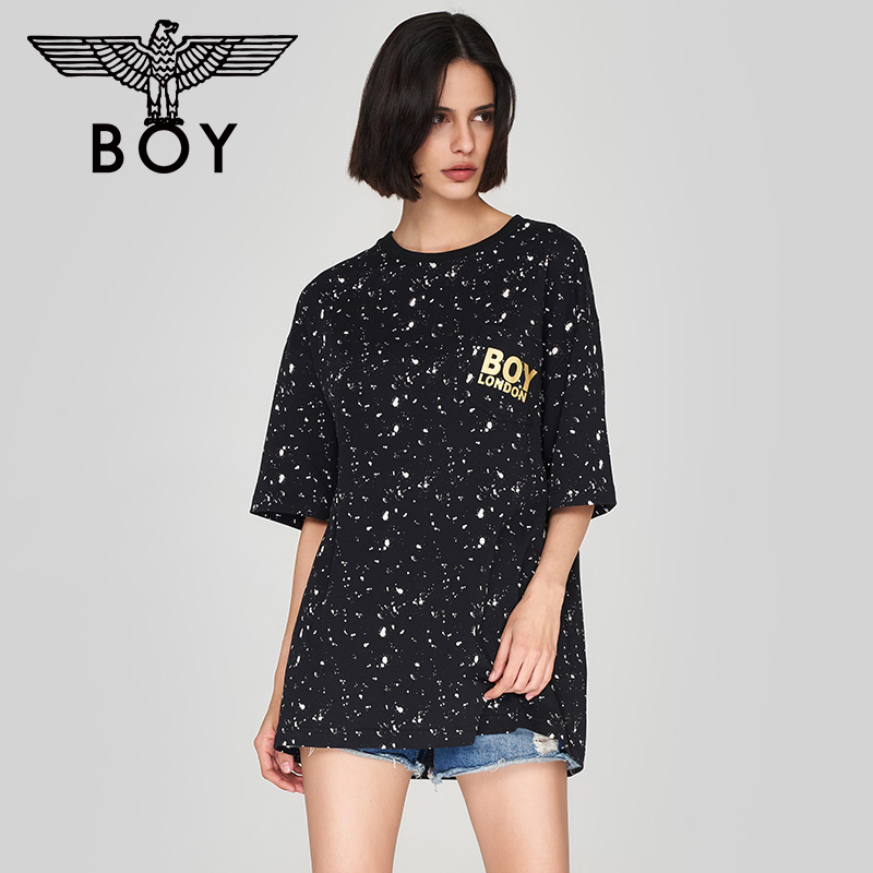 Boy London gold embellished graffiti Eagle T-shirt summer 2020 T-shirt women's short sleeve loose