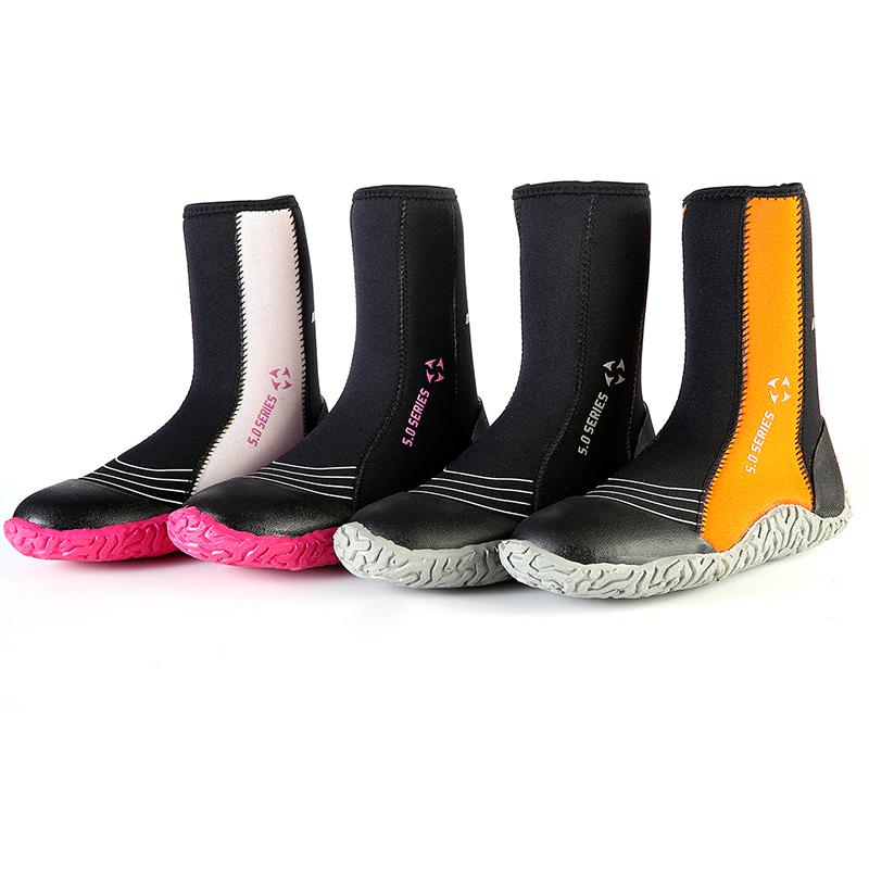 DIVE & SAIL5mm trace ручей дайвинг обувь мужской и женщины зима плавать прибой высокий скольжение носок специальность поплавок скрытая ботинок