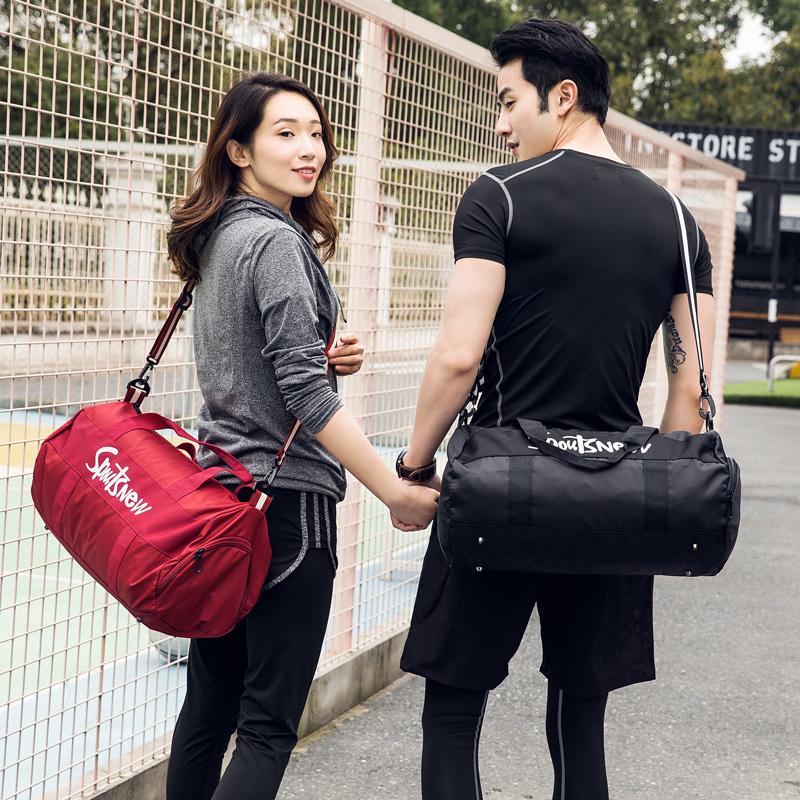 Sports bag travel bag short distance handbag luggage bag large capacity lightweight fitness bag training trendy women mens bag