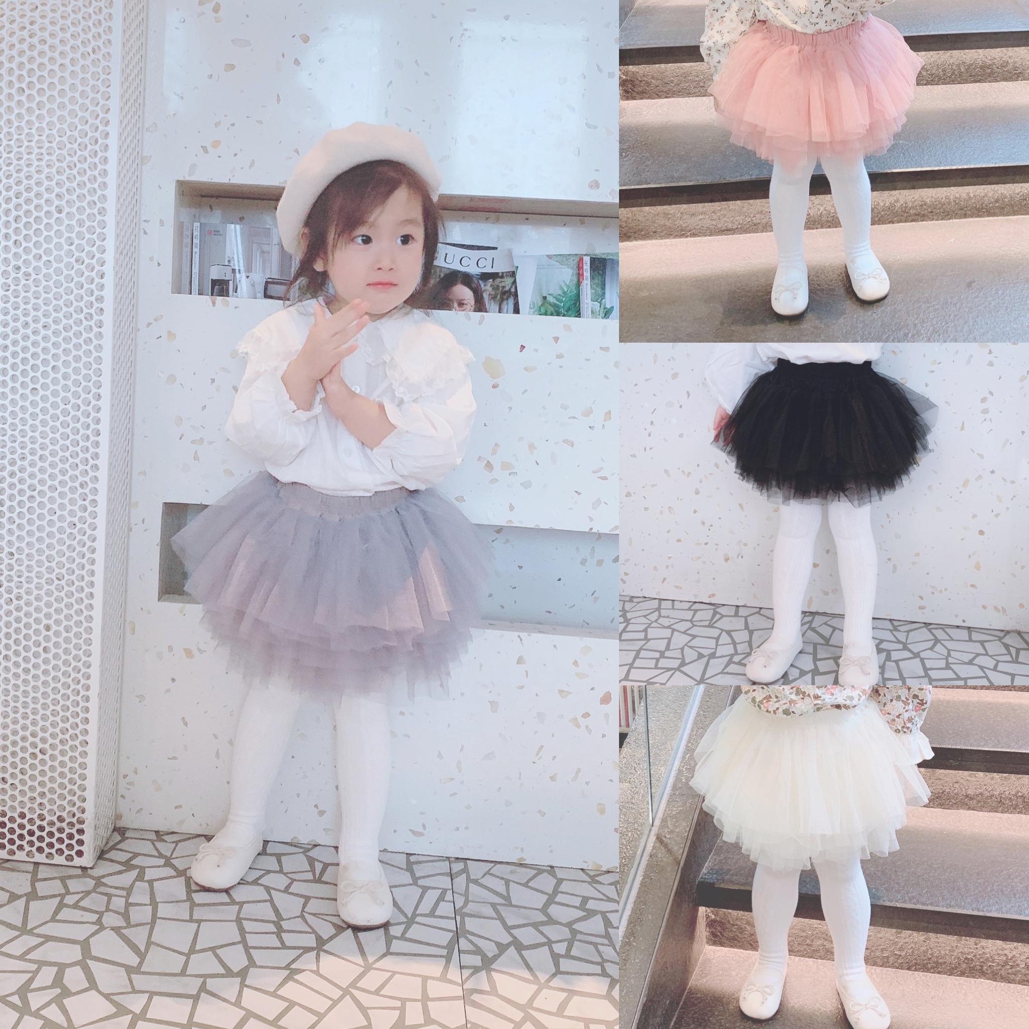 可可妈女宝宝白色半身裙网纱裙婴儿蓬蓬裙百搭公主短裙女童裙子
