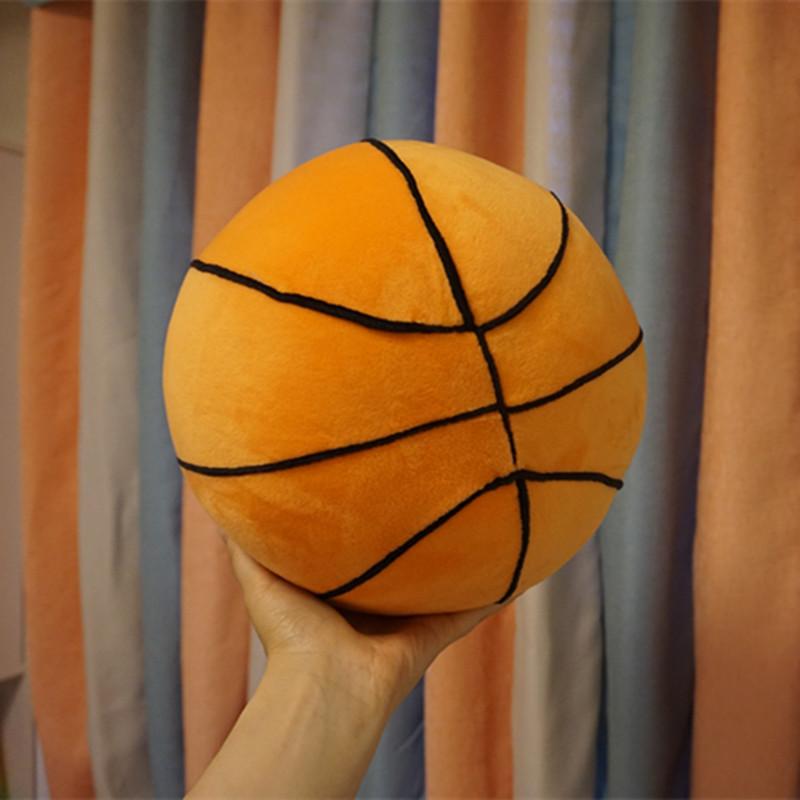 仿真篮球足球毛绒玩具宝宝早教益智室内玩具球幼儿园教学游戏用球