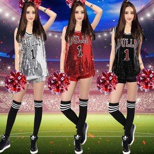 亮片爵士舞臺表演足球寶貝女套裝