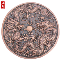 Hai Shang sculpture custom copper embossed background wall forging copper mural bronze decorative painting copper carving sandstone relief