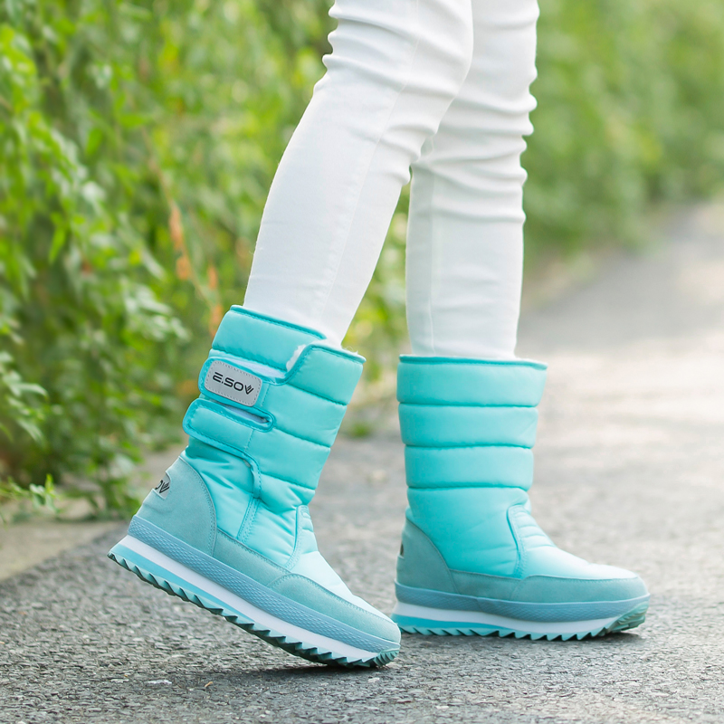Winter fashion snow shoes waterproof and antiskid female boots thickened short boots warm snow boots lovers cotton shoes