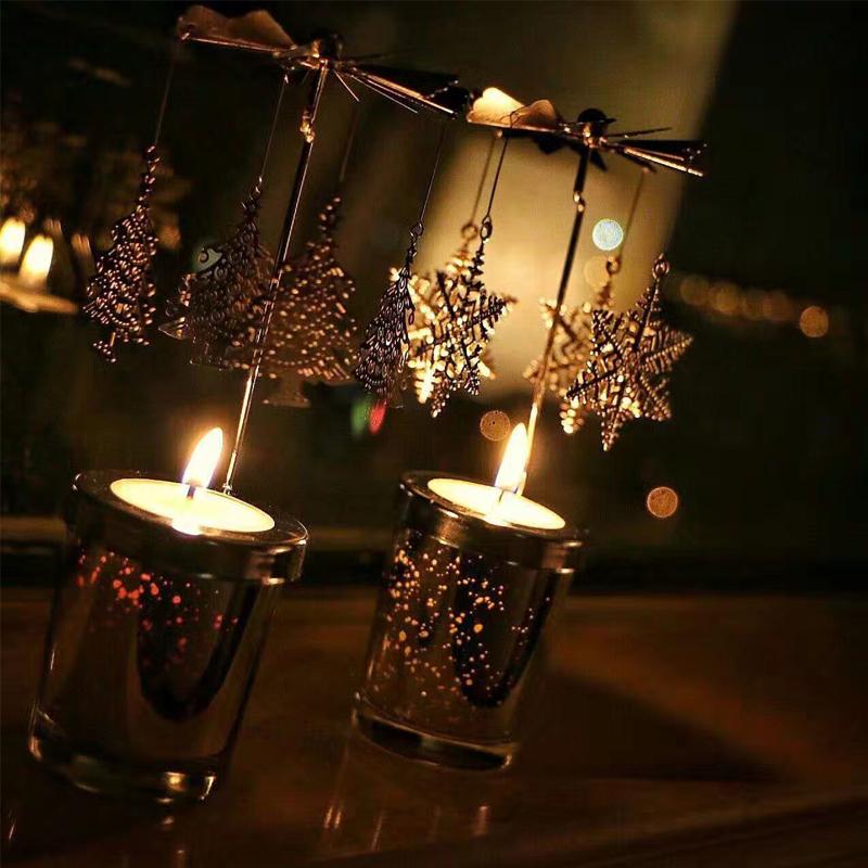 Ароматерапия аромат свеча континентальный железо аска вращение подсвечник идти фонарь романтический свеча свет ночь еда реквизит чашка украшение