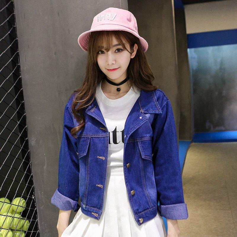 [11] 2017短款衣短韩版夹克潮艳服女装牛仔韩饰外套女士