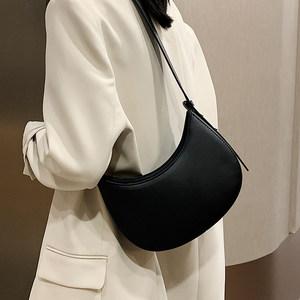 简约质感女士小包包女2020秋冬新款潮时尚网红百搭单肩腋下月牙包