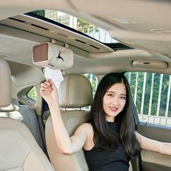 棉麻创意车载纸巾盒 汽车内饰用品天窗挂式遮阳板座椅车用抽纸盒