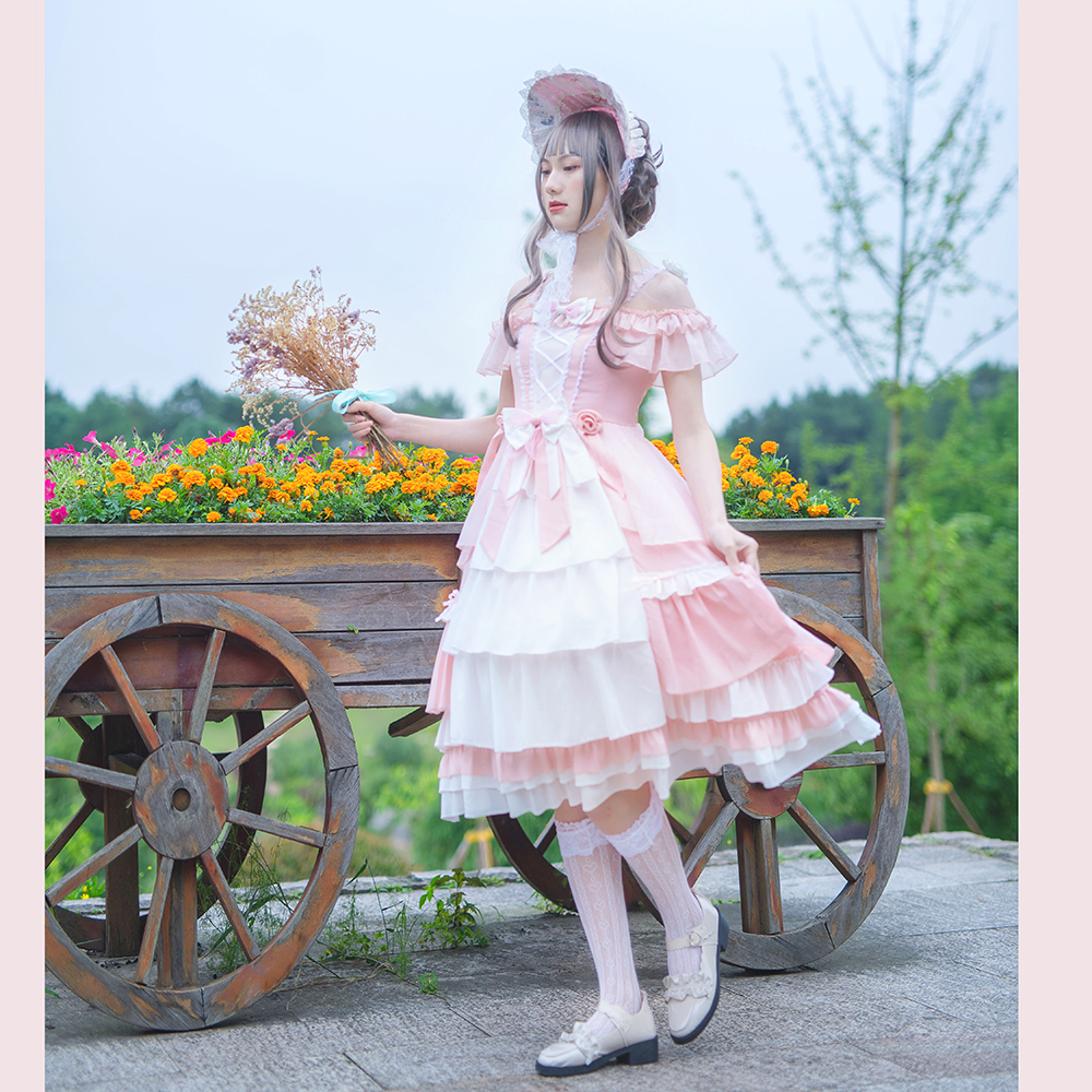 Song of the bear - original new style [rose girl] Lolita Dress Lolita skirt flower wedding dress - Summer