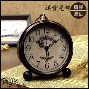 钟表摆件家居饰品座钟闹钟客厅卧室床头静音台钟装饰摆设创意餐厅