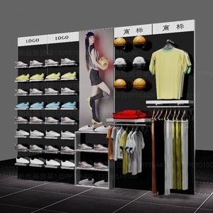 运动鞋货架 ,户外鞋展示架 商场专柜专卖鞋店 运动服装架定制