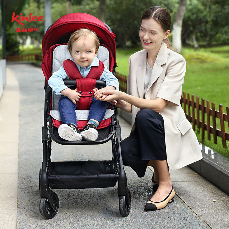 Kelly can sit on a baby stroller, baby 0-3-year-old newborn portable pocket folding four-wheel stroller