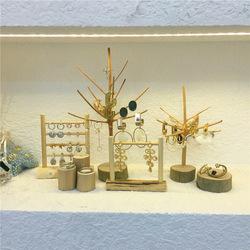 美物 首饰展示架饰品收纳架耳钉耳环架鹿角树形创意陈列木制组合