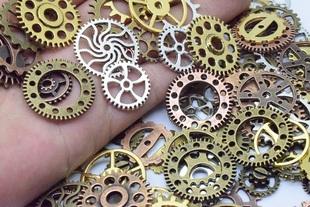 50克/包 蒸汽朋克飾品 diy材料包 機械項墜 滴膠封入物齒輪配件