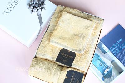 进口 英国皇室Christy Renaissance埃及棉毛巾浴巾三件套礼品盒
