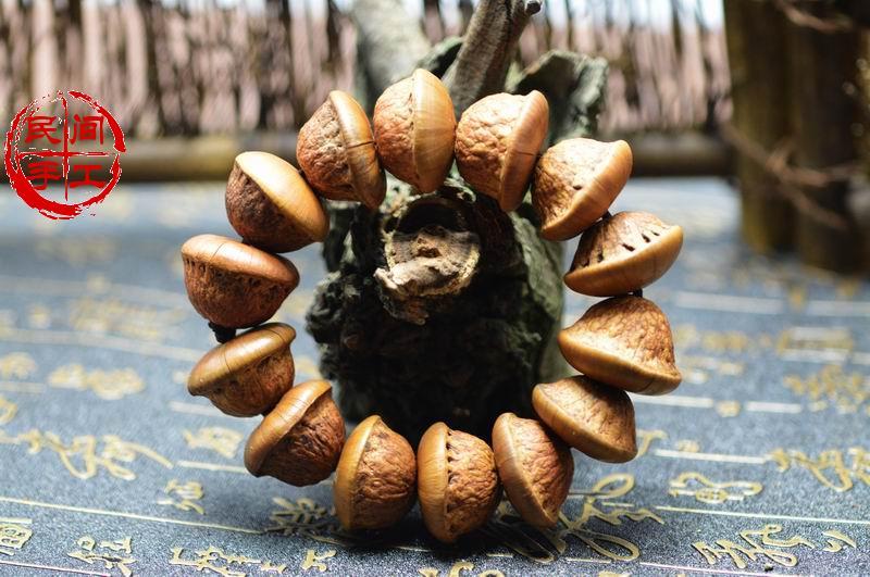 天竺菩提子 (龟头菩提) 龟头籽核雕 小叶紫檀 手串 核桃 天然牛头 Изображение 1