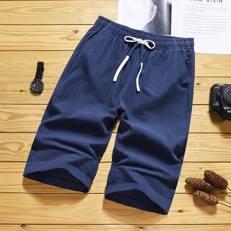 2021 spring and summer new fashion mens boutique leisure elastic cotton Capris trend mens shorts