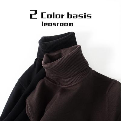 毛衣男高领冬季新款毛衫韩版修身纯色打底衫黑色针织衫潮流线衣