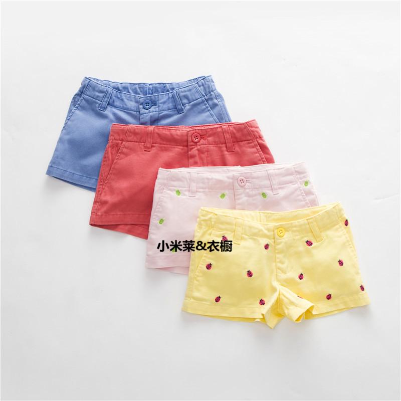 【原】夏季rl女童纯棉牛仔短裤运动裤