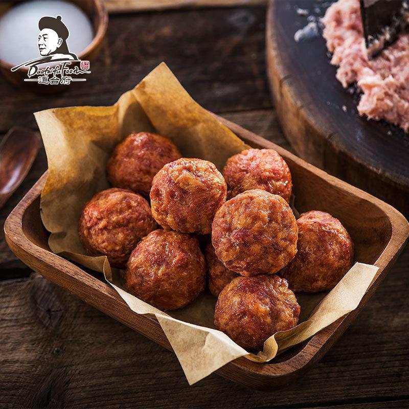 道台府油炸肉丸子450g哈尔滨红肠特色休闲猪肉类零食新鲜真空包装