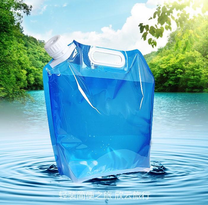 户外野营用品便携式塑料水袋旅行可折叠水袋大容量水壶饮水袋登山