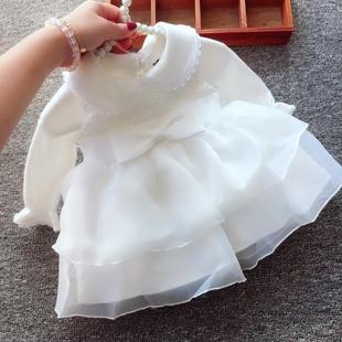 嬰兒公主裙夏季女寶寶週歲裙滿月百天禮服百日宴1歲2冬連衣裙春秋