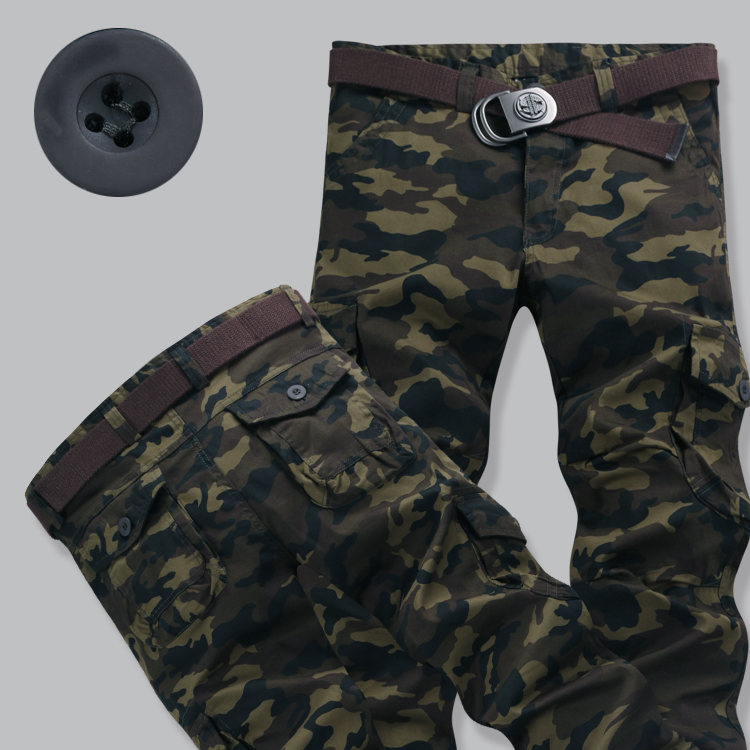Package post spring and autumn large casual pants pants, camouflage pants, military pants, mens pants, overalls, sports lovers Slim elastic pants