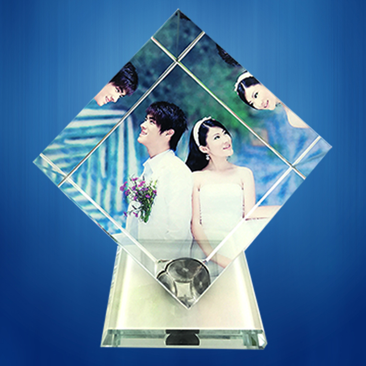 旋转魔方水晶照片制作个性DIY定制送朋友生日礼物洗照片旋转相册