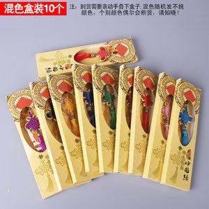 中国结挂件富贵结小蝴蝶手工8盘 中国节特色手工艺红色装饰葫芦丝