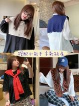 糖糖大码女装2020秋季新款韩版复古豹纹针织小披肩外搭坎肩潮3506