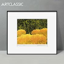 草間彌生花園中草間彌生兒童房裝飾畫掛畫現代抽象版畫帶簽名