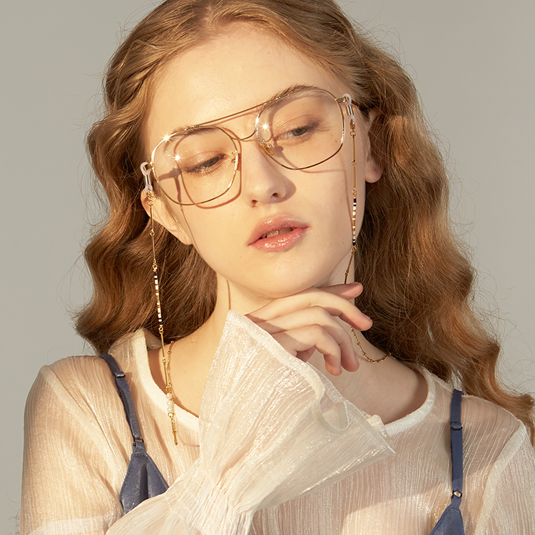 [绣球独立设计]珠绣简约眼镜链 洛丽塔女 挂脖时尚复古链子挂绳