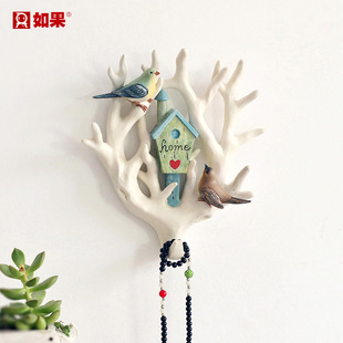 美式创意挂钩进门钥匙收纳衣服玄关墙壁装饰复古动物壁挂墙上挂件