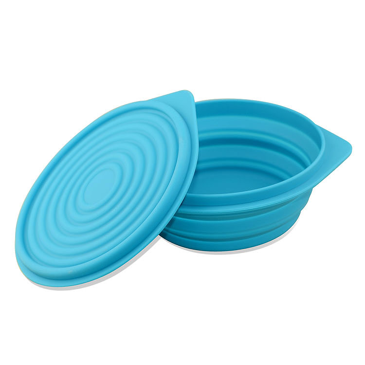 Сложить протяжение коробка для завтрака на открытом воздухе сложить посуда сложить чаша силиконовый коробка для завтрака портативный посуда пузырь чаша пищевого