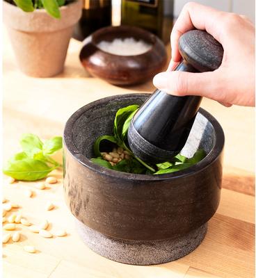 妙HOME 蒜缸 捣蒜罐 家用 艾德思 杵和臼,大理石研磨器