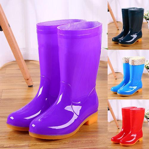 秋季新款雨鞋女保暖中筒棉雨靴成人厨房防滑加棉水靴防水胶鞋水鞋