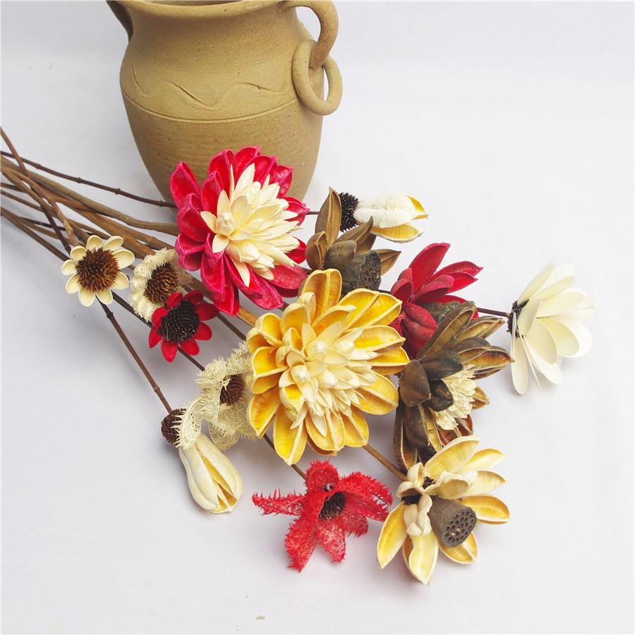 中国风禅意粘接干花花束古典家居客厅装饰摆件diy插花花材拍摄道