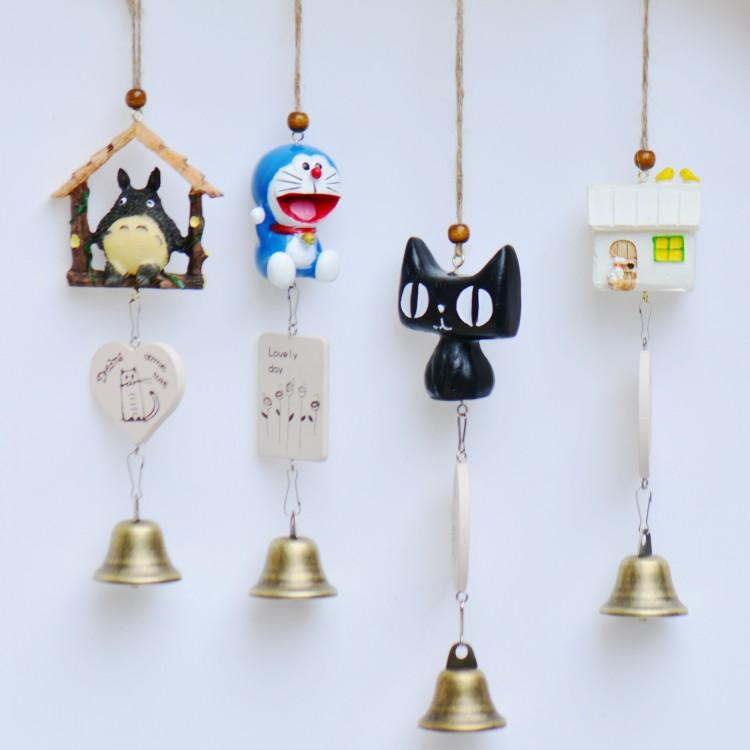 可爱日式龙猫风铃饰品创意挂饰儿童女学生日圣诞礼物卧室铃铛